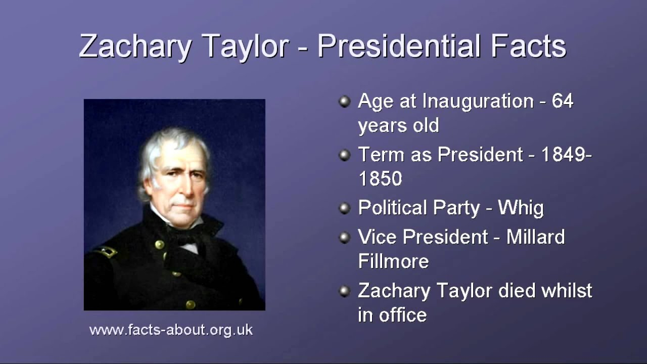 President zachary taylor biography youtube for Fun facts about the presidents