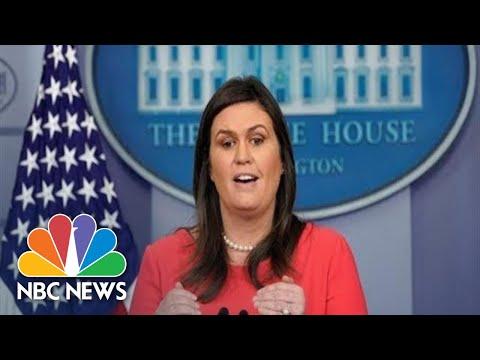 Watch Live: White House Press Briefing 12/18/18 | NBC News