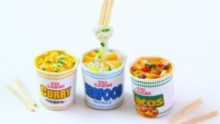 Miniature Cup Ramen - Polymer Clay Japanese Cup Noodle Tutorial Thumbnail