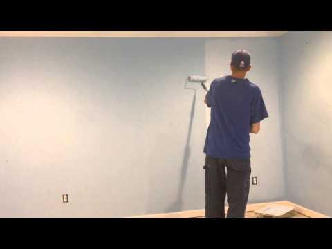 How to paint roll a wall with NO LINES!! FAST AND EASY!!!