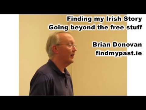 Finding my Irish Story - Brian Donovan, Findmypast