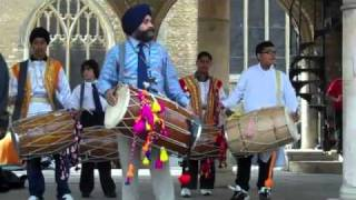 Bhangra drumming in Peterborough