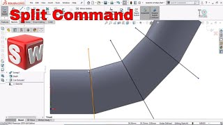 How to use Split Command in SolidWorks