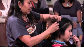 Traditional Hopi hairstyle at MIAC
