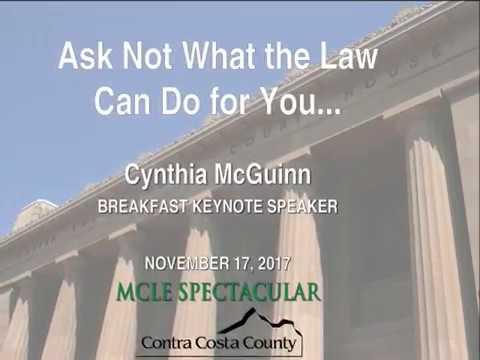 MCLE Spectacular 2017   Cynthia McGuinn