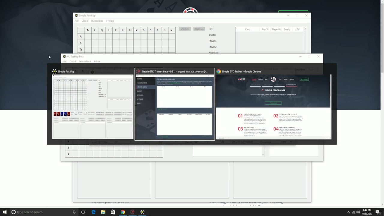 Simple GTO Trainer (Free Software) -- Practice GTO with customized