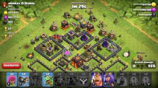 Clash of Clans - lavaloonion attack on th10 by th9