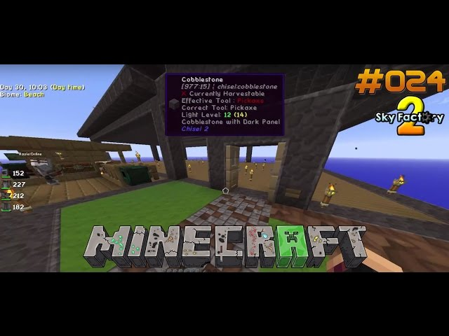 Let's Play Minecraft Sky-Factory 2 | Das Haus nimmt Form an. | Folge #024