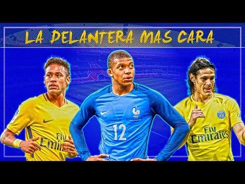mbappé-oficial-al-psg-|-neymar,-cavani-y-mbappé-la-delantera-más-cara-del-mundo