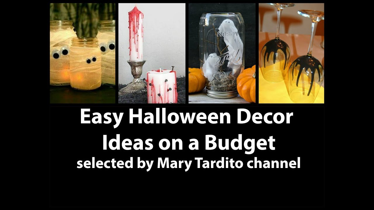cheap easy halloween decor ideas