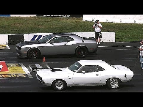Mopar Old Vs New American Muscle Cars Drag Racing Youtube