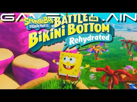 14 Minutes Of SpongeBob: Battle For Bikini Bottom Rehydrated Gameplay - DIRECT FEED (PAX East)