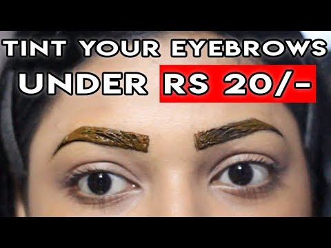CHEAPEST way to Tint your BROWS Naturally | Eyebrow Tinting at Home
