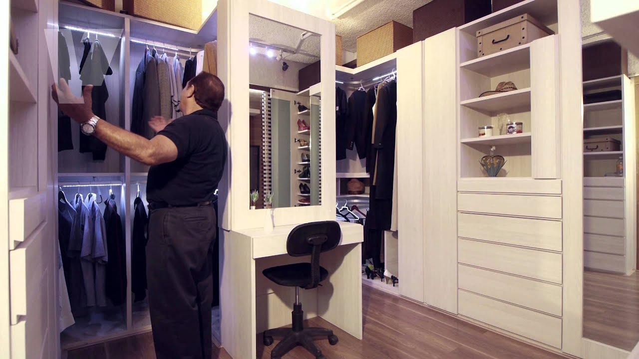 Vestidores de closets vanguardia youtube for Modelos de zapateras en closet