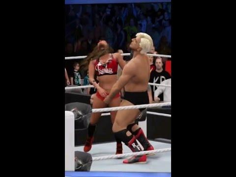 ひたすら女子レスラーにローブロー(WWE2K16)