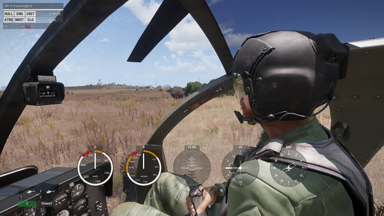 Arma3 Helicopters with TrackIR and Warthog Hotas