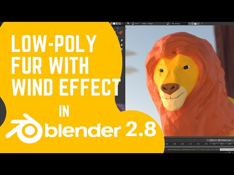Blender Tutorial - Low Poly Fur with Wind effect thumbnail