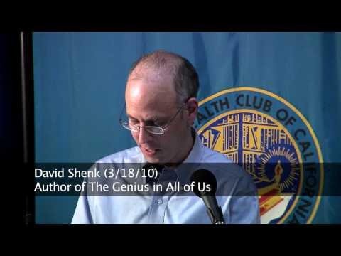 David Shenk (3/18/10)