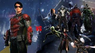 Batman: Arkham Origins - Robin vs all 8 Assassins