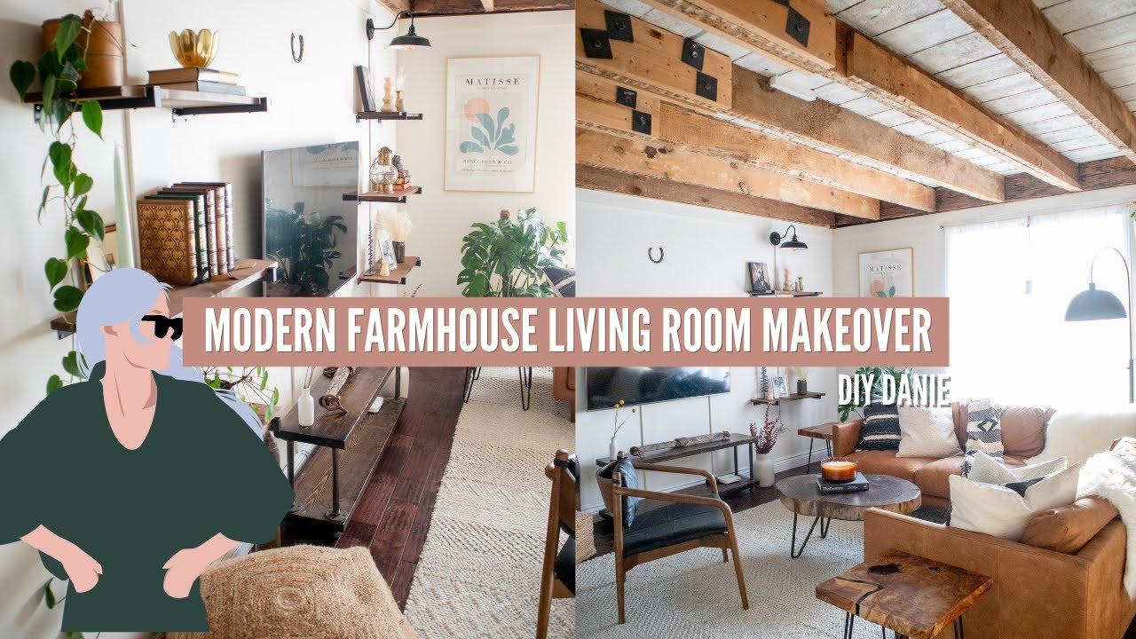 *EXTREME* DIY Modern Farmhouse Living Room Makeover | Home Made Home | EP 3
