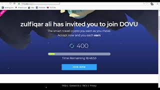 Listed in Exchanes 400 DOVU Token for Signup and Install APP
