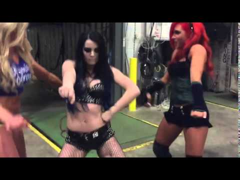 PAIGE DANCING TO...DEAN AMBROSE'S THEME SONG!