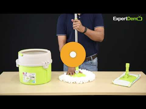 Spotzero By Milton Elite Spin Mop With Bucket हिन्दी Doovi
