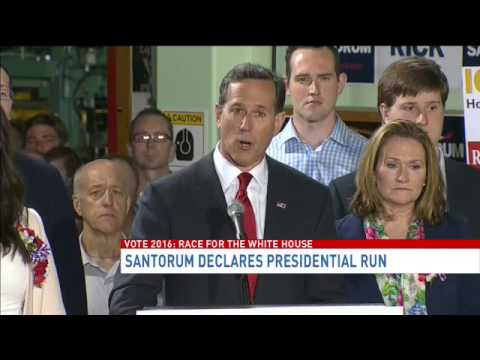 Santorum declares presidential run