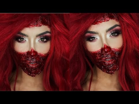 All Red Everything Halloween Makeup | Natalie Eva Marie