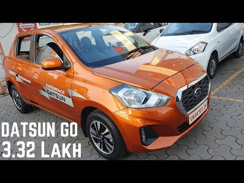 Datsun GO 5 Seater Hatchback 2019 Real Life Detailed WALKAROUND Review - PRICE, Variants, Features