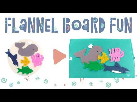 Five Little Ocean Friends Flannel Board Rhyme