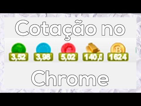 Cotações do Dólar Euro Libra Ouro e Bitcon no Chrome