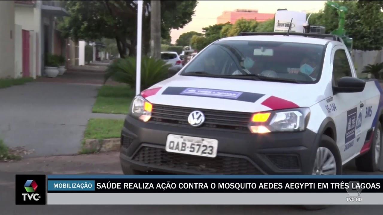 Saúde realiza ação contra o mosquito Aedes aegypti em Três Lagoas
