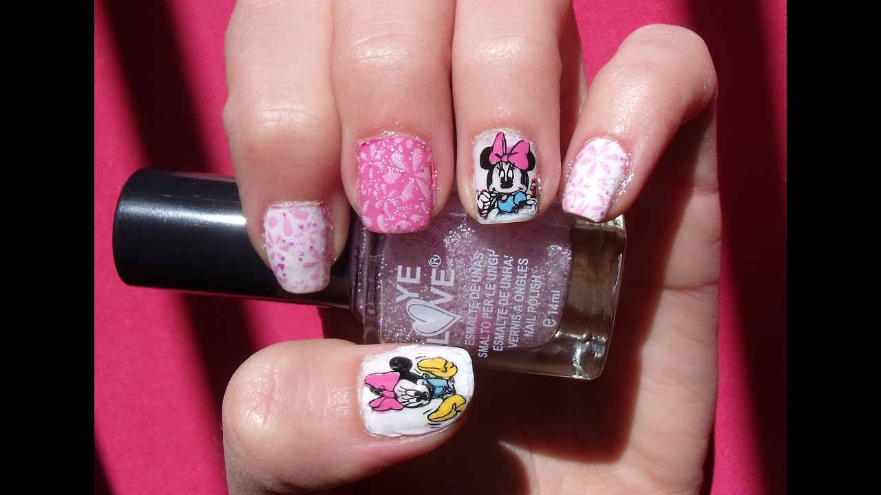 diseo de uas disney minnie nail design minnie
