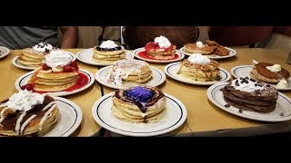 Every Pancake From IHOP Challenge Attempt
