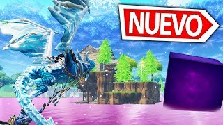 THE **GIANT CUBE** vs WATER IN FORTNITE: BATTLE ROYALE REACTING TO THE BALSA BUTTON CUBE