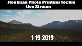 Jose Rodriguez PHOTO PRINTING TECHIE LIVE Stream 1-19-2019 Eastern Time USA