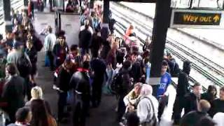 Champions League final Wembley underground station Utd fans singing Parks name