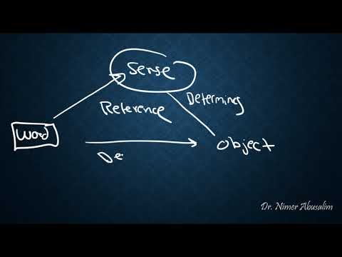 SEMANTICS-9: Theories of Reference (Denotational & Representational Theories)