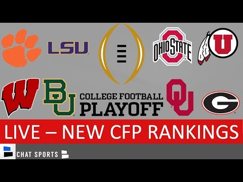 CFP Rankings For Dec. 3rd - Top 25 College Football Teams | Ohio State, LSU, Clemson, Georgia Lead