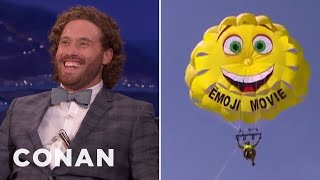 T.J. Miller Parasailed Into Cannes & Confused Tilda Swinton  - CONAN on TBS