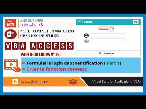 #35 :  VBA Access GStock - Login Authentication (Part1)