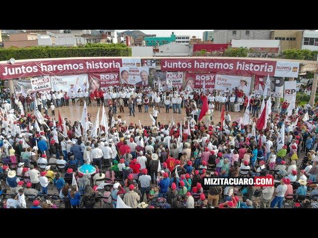 ¿A qué se comprometió Rosy Salinas durante el Cierre de su Campaña en Zitácuaro?