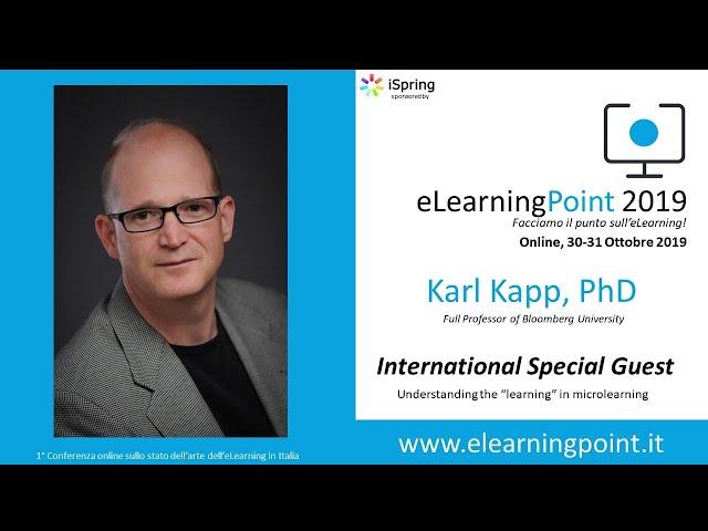 eLearningPoint 2019 - Intervento del Prof. Karl Kapp e della Dott.ssa Robyn Defelice