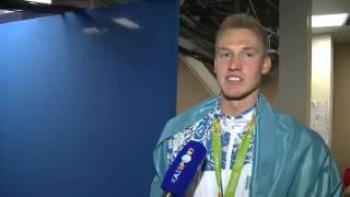 Первый в истории Казахстана олимпионик по плаванию Дмитрий Баландин(Источник: телеканал Казспорт., 2016-08-11T06:10:30.000Z)