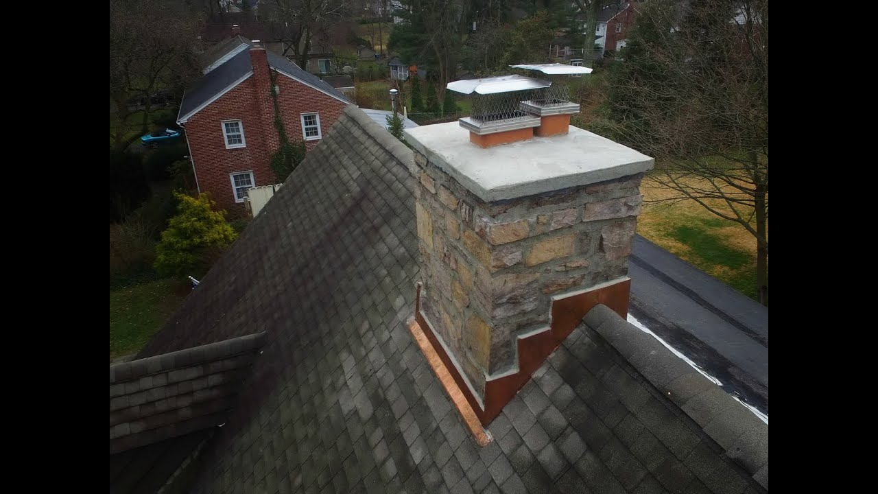 Chimney Crown And Counter Flashing Repair Wayne Pa Youtube