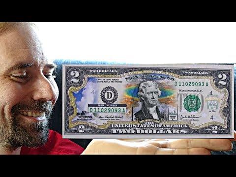 US 2 Dollar Bill - 2003 A Yellowstone National Park