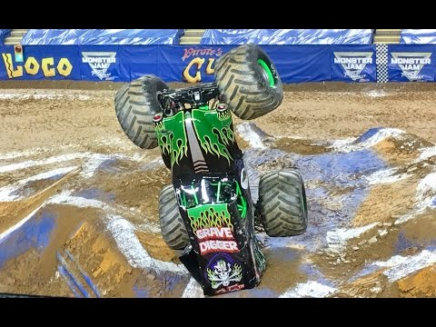 Monster Jam 2017 Baltimore Racing, Wheelies, Donuts, and Freestyle
