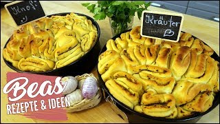 Zupfbrot Rezept | Kräuterbutter und Knoblauchbutter selber machen | Grillbeilage - Partybrot