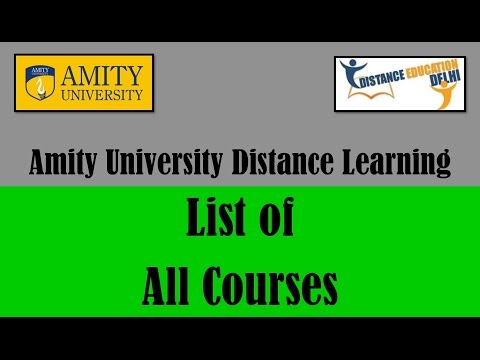 Amity university distance learning - list of all courses